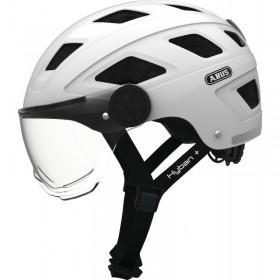 Casque vélo ABUS Hyban + avec visière ABUS Protections pour trottinettes électriques