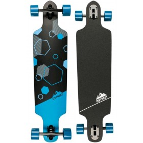 "D Street Polygon Hex Drop Through 37,5\"" D-STREET Longboards D-STREET"