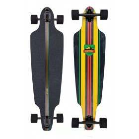 D-STREET Drop Through Stinger Longboard Rasta D-STREET Longboard - Skate - Patin