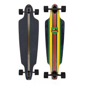 D-STREET Drop Through Stinger Longboard Rasta D-STREET Longboards - Skates - Patins