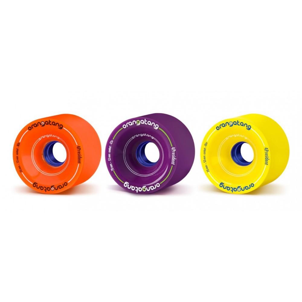 Roues Orangatang 4President 70mm (vendues par 4) ORANGATANG Pièces pour longboards