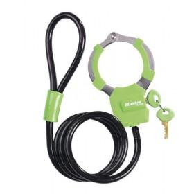 Antivol câble menotte Vert