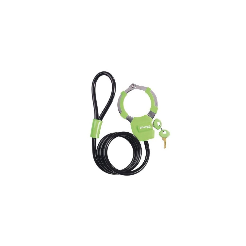 Antivol câble menotte Vert MASTER LOCK Pièce et accessoire