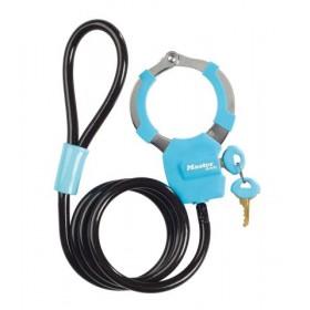Antivol câble menotte Bleu