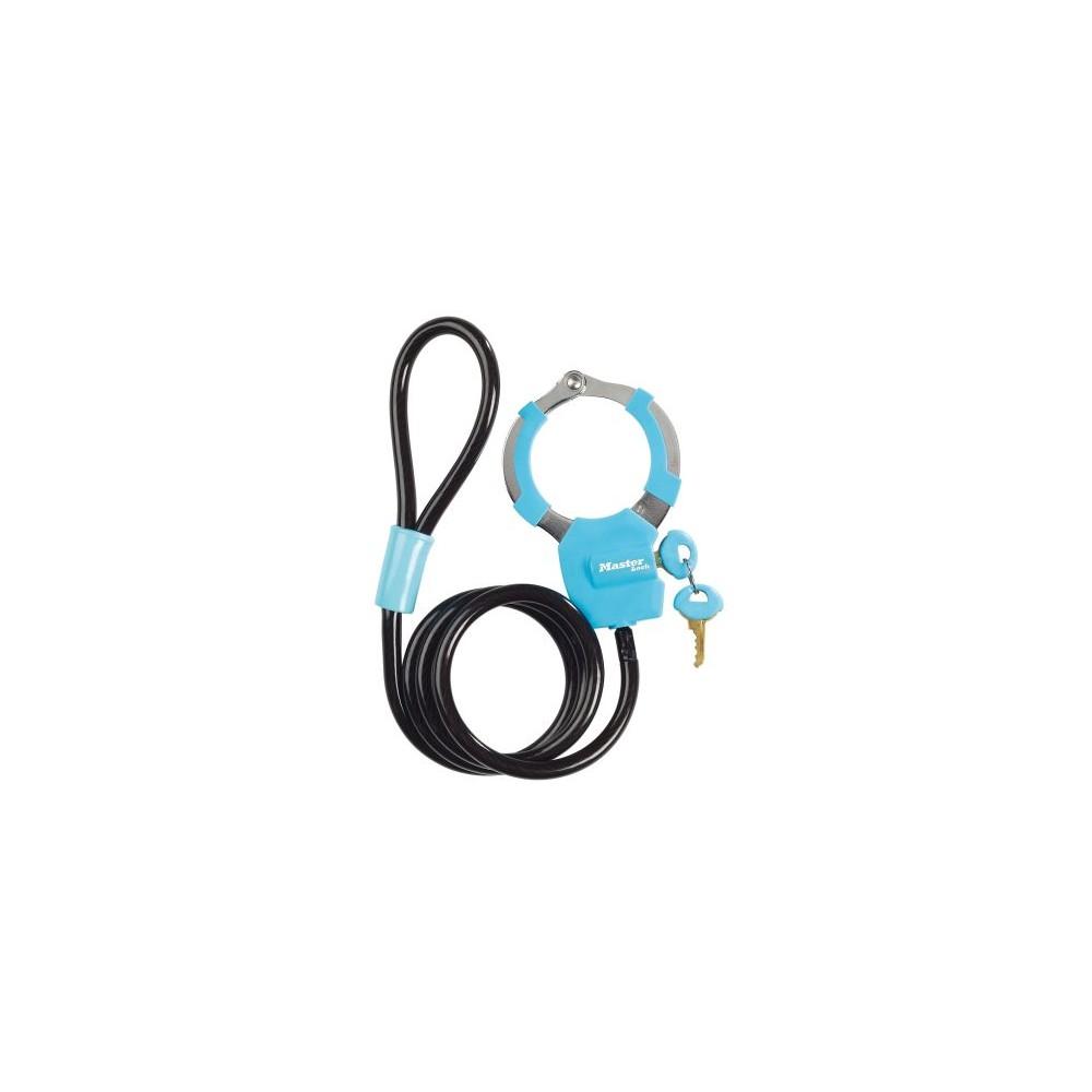 Antivol câble menotte Bleu MASTER LOCK Pièce et accessoire