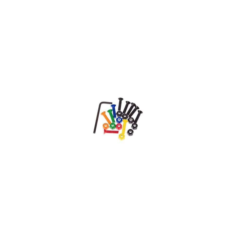 """Pack X10 visserie Colorful 1\\"""" Enjoi  Pièce et accessoire"""