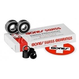 Roulements Bones swiss 2 (vendues par 8) BONES SWISS Pièce et accessoire
